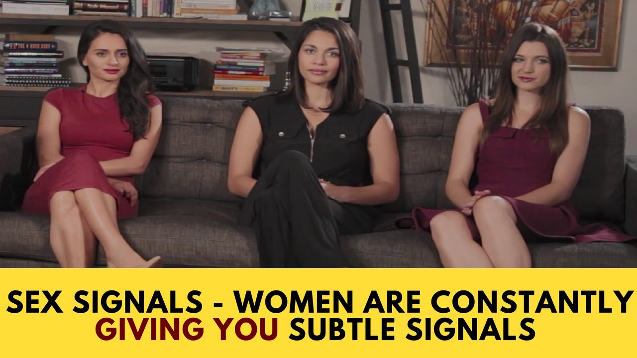 Female sexual body language signals