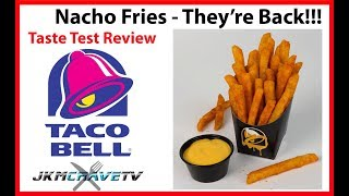 Taco Bell Nacho Fries Revisited  - Taste Test Review | JKMCraveTV