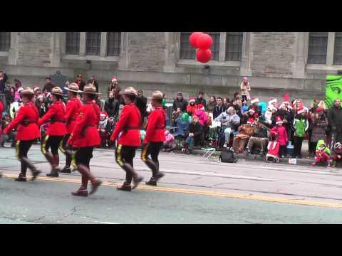 2013 Toronto Christmas Santa Claus Parade Royal Canadian Mounted Police Marching Band