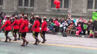 2013 Toronto Christmas Santa Claus Parade Royal Canadian Mounted Police Marching Band