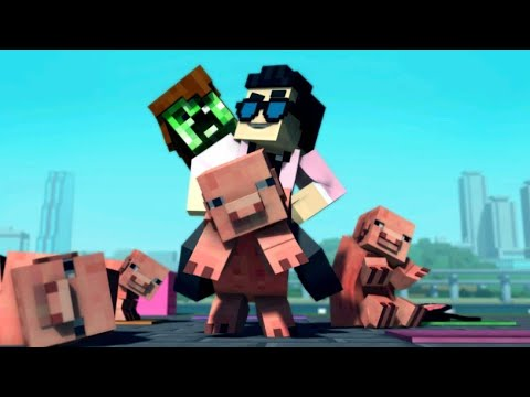Minecraft Style - A Parody of PSY's Gangnam Style (Music Video) Chipmunked version HD