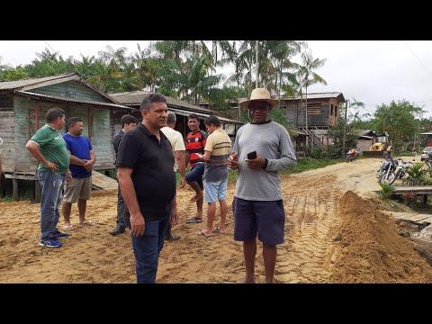 Oeiras do Pará: Prefeito Dinaldo Aires visita pontes que irão virar Rua aterradas.