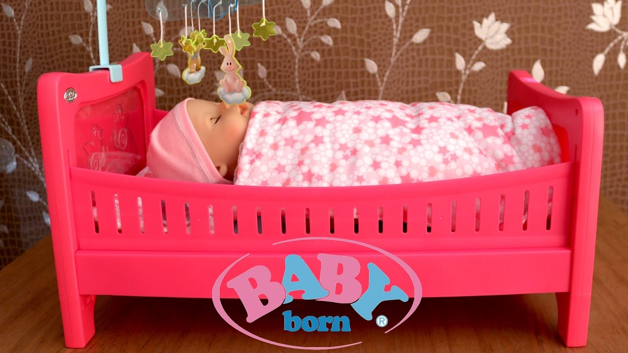 Baby Born Bed - Baby Doll like Real Drinks and Wet Cries ...
