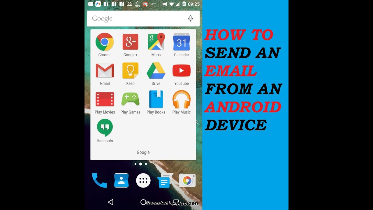 How To Send An Email On Androidreally Easy Youtube