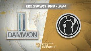 Mundial 2019: Fase de Grupos - Dia 8   DAMWON Gaming x Invictus Gaming (Jogo 4)