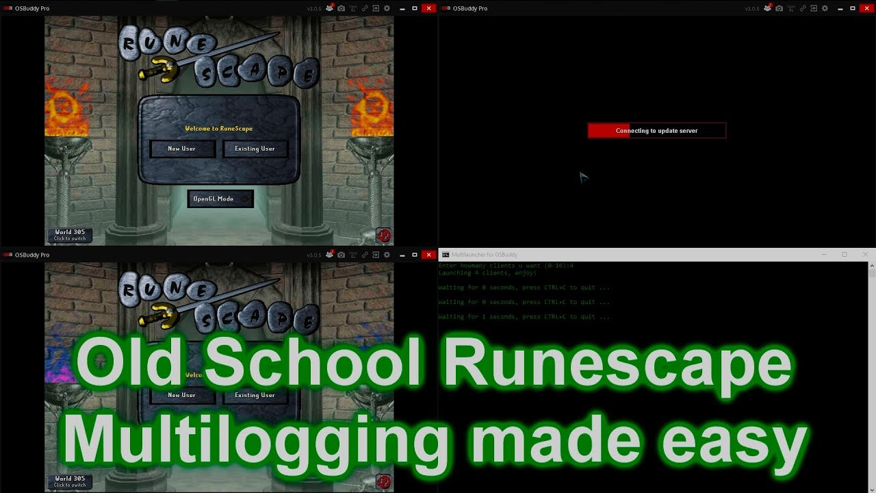 How to multi-log in OSRS Old School Runescape [MULTILOGGING OSBUDDY]