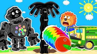 Lion Family | Journey to the Center of the Earth №55. Oil Quake | Cartoon for Kids