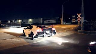 Lamborghini LP670 SV, Aventador, & Ferrari 599 group acceleration