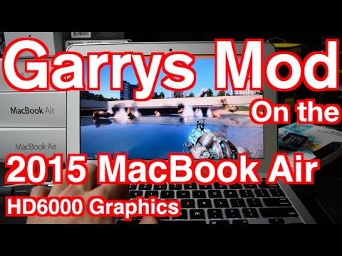 2015 Macbook Air Garry's Mod Gaming Experience TEST HD6000