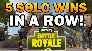 WE WON 5 SOLO FORTNITE GAMES IN A ROW! (Fortnite Battle Royale EASY Solo Wins)