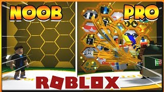 ROBLOX | When NOOB and PRO go Beekeeping Honey | Bee Swarm Simulator