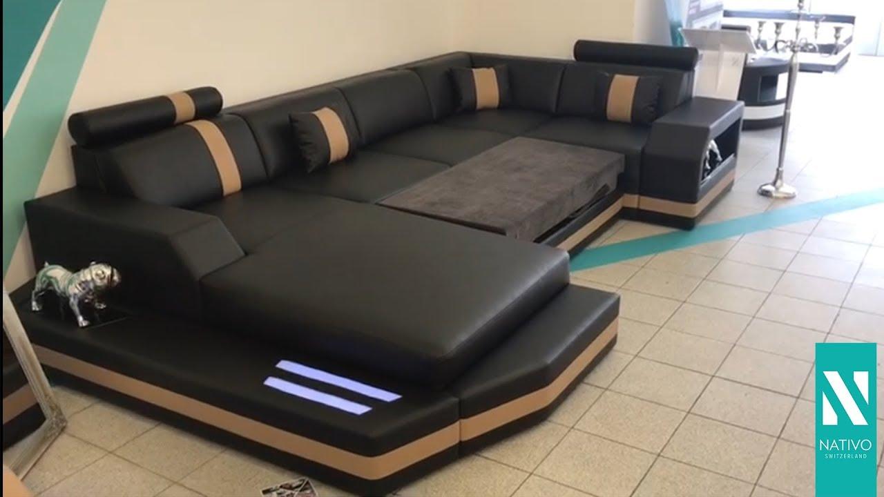 8e03cd0c87cd3a Nativo Möbel Deutschland Designer Sofa Mesia Xl Mit Led Beleuchtung