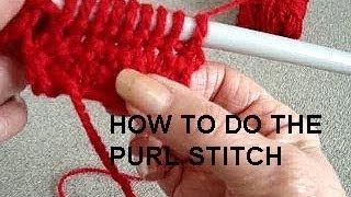 PURL STITCH, LEARN HOW TO KNIT, Video lessons