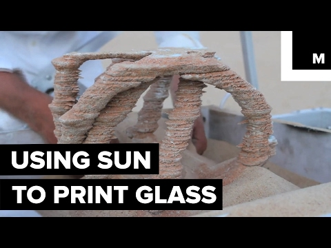 Solar-powered machine turns sand into glass
