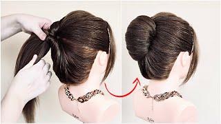 Быстрая Прическа Ракушка на длинные волосы easy french roll hairstyle french twist french bun