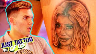 Chloe Ferry Tattoos Her Face On To Sam Gowland's Thigh | C*ckblocking Tattoos | Just Tattoo Of Us 4