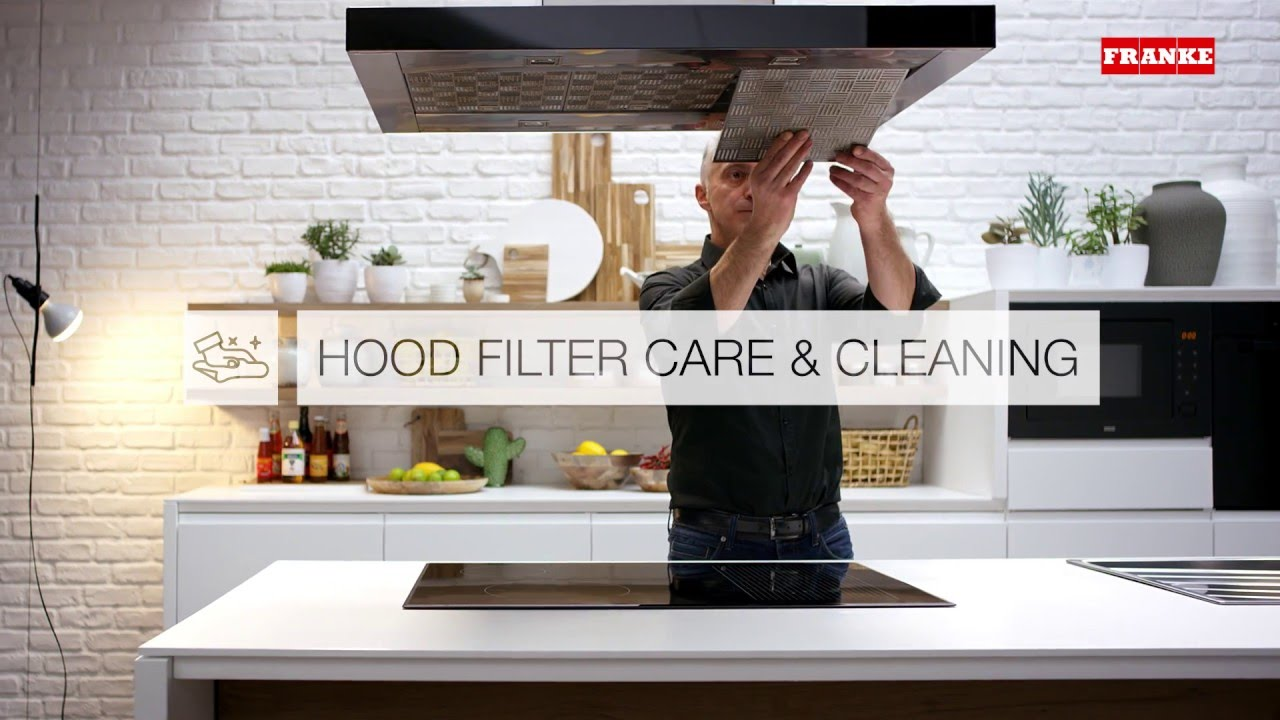 How to clean the filter of your Franke cooker hood - YouTube