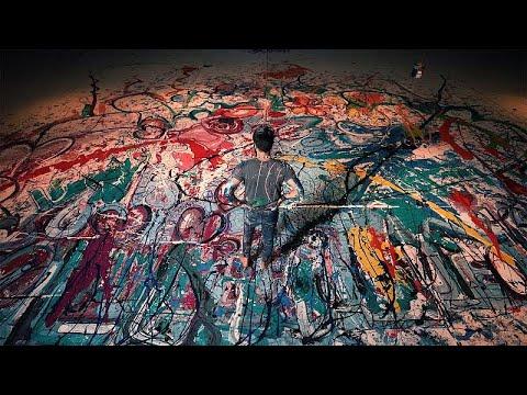 لوحة خيرية مستوحاة من الانسانية للفنان ساشا جفري في دبي…  - 17:00-2020 / 7 / 8