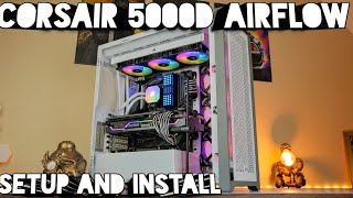 Corsair 5000D setup with 12 fans, H150i Elite Capellix Push Pull and more