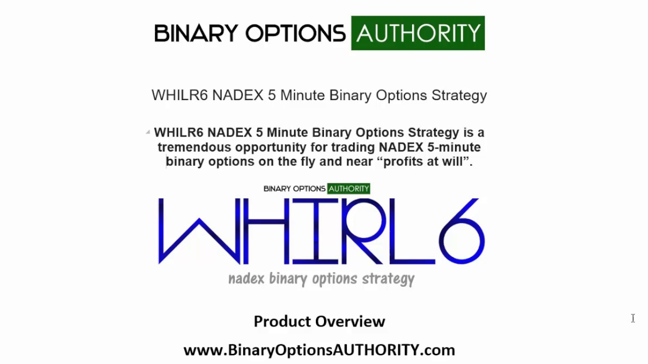 5 minute binary options trading strategy