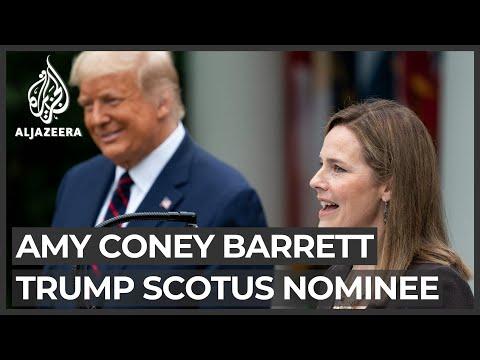 Trump nominates judge Amy Coney Barrett to Supreme Court