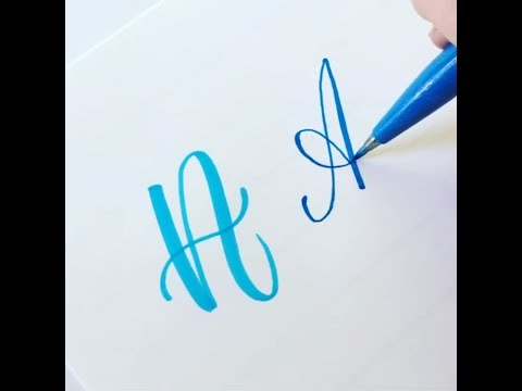 How To Write The Capital Alphabet (2 Styles) In Brush Lettering
