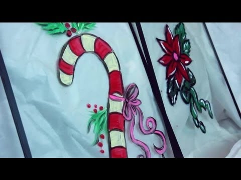How To Paint Christmas Designs On Windows Decorating For