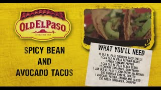 Spicy Bean And Avocado Tacos | Andy Bates | Old El Paso