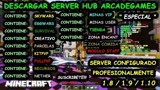 Descargar Server Minecraft 1.8 / 1.9 / 1.10.2 Configurado Especial 20000 Suscriptores Playboxone