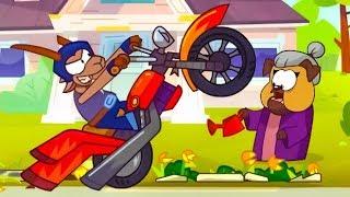 Om Nom Stories - Super-Noms: Crazy Biker (Cut the Rope) Super toonsTV
