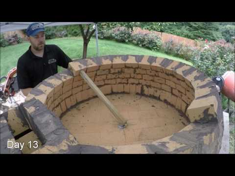 My first Pompeii Brick Pizza Oven - Time Lapse Video