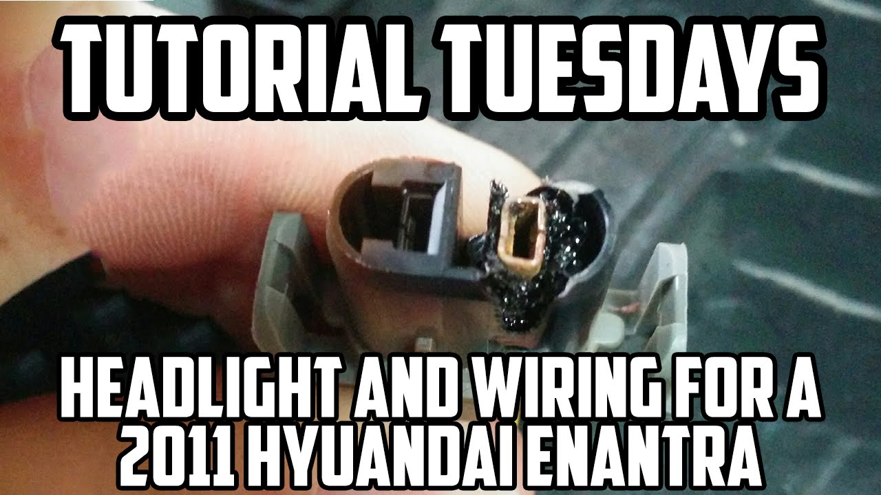 tutorial tuesday changing a headlight bulb wiring of a 2011 hyundai elantra youtube [ 1280 x 720 Pixel ]