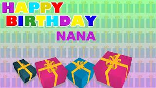 Nana - Card Tarjeta - Happy Birthday
