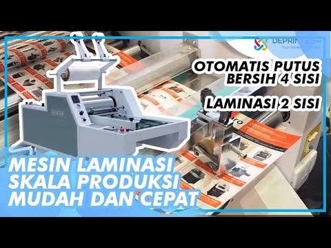 Mesin Laminasi ML520 Otomatis Prosesnya Praktis, Ongkos Produksinya Ekonomis