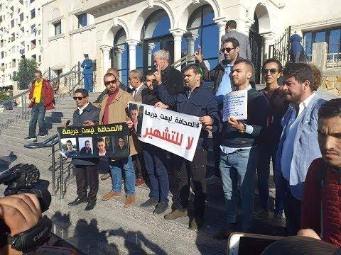 صحفيون وفنانون #جزائريون يتضامنون مع زملائهم المعتقلين... والسبب #فيسبوك  #بي_بي_سي_ترندينغ  - 17:54-2018 / 11 / 19