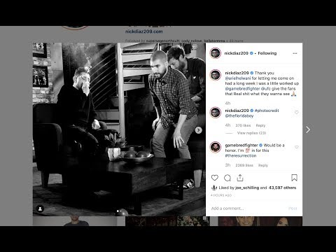 Nick Diaz Calls Out Jorge Masvidal on Instagram