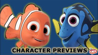 Nemo and Dory Disney Infinity Hall of Heroes Character Previews