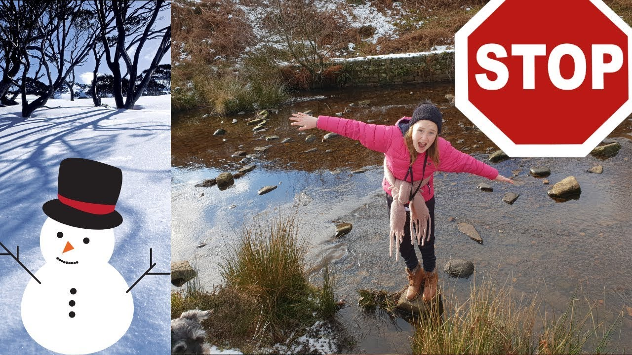 OMG 12 YEAR OLD NEARLY FALLS IN FREEZING STREAM!