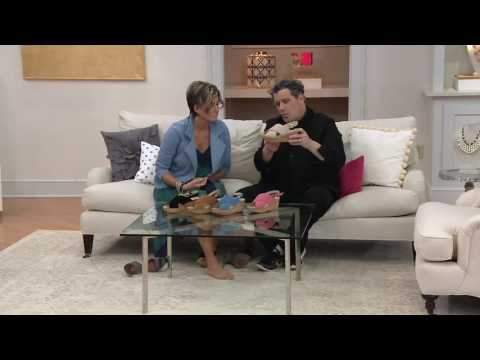 Isaac Mizrahi Live! Suede Cross Band Wedge Sandals on QVC