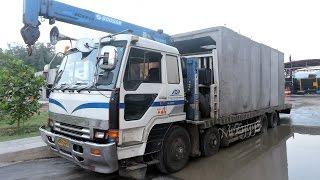 Fuso Self Loader Truck Komatsu PC228 Excavator Moving Box Culvert(WARNING!!! NO TV BROADCAST WITHOUT PERMISSION!!! NO RE-UPLOAD!!! MrZygy3., 2016-08-23T22:58:29.000Z)