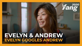 Evelyn Googles Andrew Yang