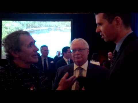 Slave Lake Resident Dave Loyie Questions CN CEO Claude Mongeau in Edmonton