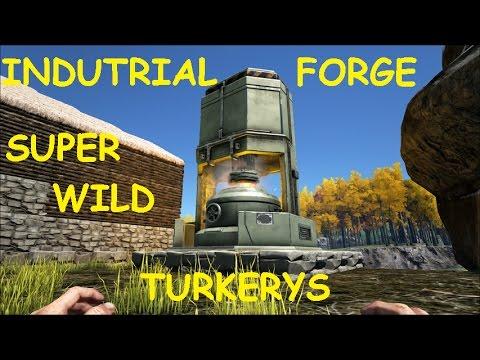 ark survival evolved ep 57 update 225 industrial forge wild super turkeys youtube. Black Bedroom Furniture Sets. Home Design Ideas