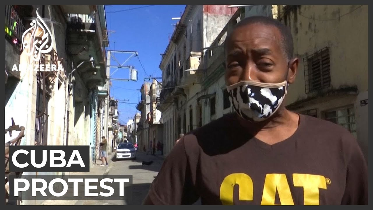 Street protests break out in Cuba