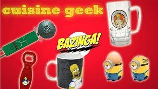 video geek cuisine, des accessoires de cuisine star wars, Simpson ou minions