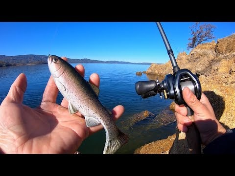 Fishing A Huddleston 68 (Rainbow Trout) For Winter Bass