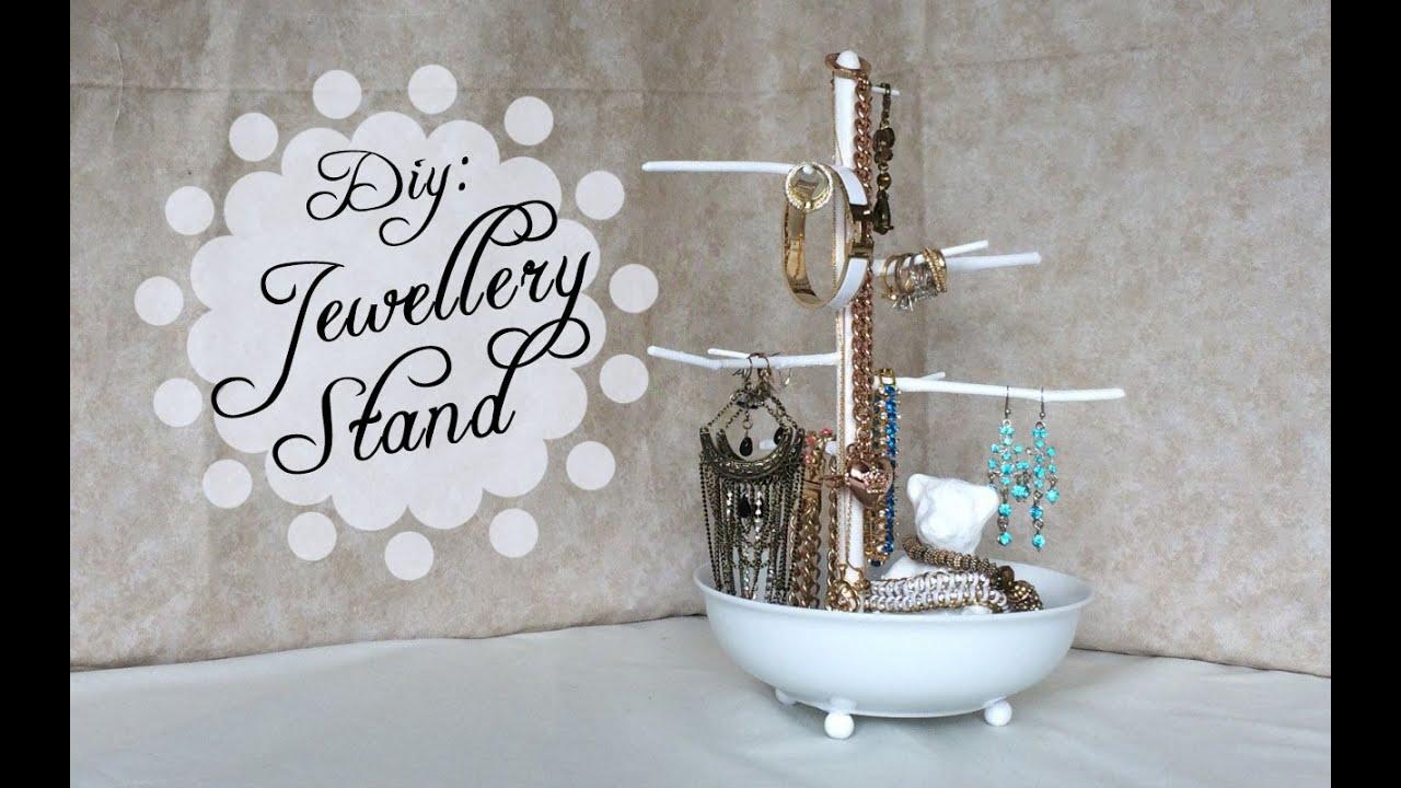 Diy Jewelry Holder Diy Jewellery Stand Cutenailpolishart Youtube