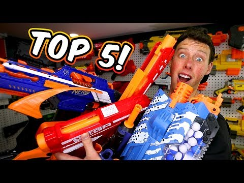 Thumbnail: TOP 5 NERF GUNS! (Favorite, Worst, Under $30, and Best of Each Series)
