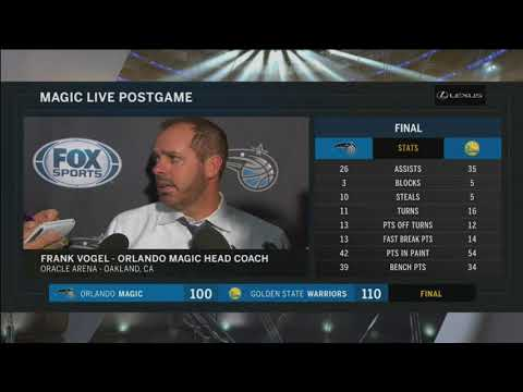 Frank Vogel -- Orlando Magic at Golden State Warriors 11/13/2017