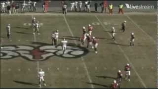 WSSU Hail Mary before Halftime VS. IUP D2 PLAYOFFS